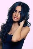 Beleza longa do cabelo curly Imagens de Stock