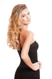 Beleza loura com cabelo saudável fotografia de stock