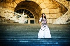 Beleza nas escadas Imagens de Stock Royalty Free