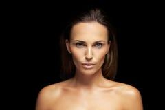 Beleza natural com pele fresca e limpa Fotos de Stock Royalty Free