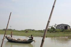 Beleza natural da ilha de Bhola fotos de stock