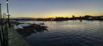 Beleza natural de Dal Lake, Srinagar foto de stock