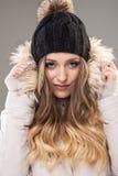 Beleza natural - retrato intenso do inverno, 20-24 anos, adulto, C Imagens de Stock