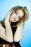 Beleza no azul 2 fotos de stock