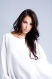 Beleza no branco Foto de Stock Royalty Free