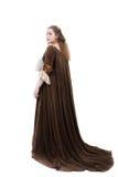 Beleza no vestido medieval Fotos de Stock Royalty Free