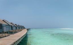 Beleza original da lagoa azul em Maldivas Fotografia de Stock Royalty Free
