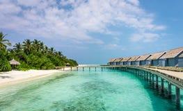 Beleza original da lagoa azul em Maldivas Foto de Stock Royalty Free