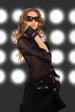 Beleza Partying Fotografia de Stock