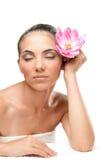 A beleza relaxa em termas Imagem de Stock Royalty Free