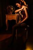 Beleza 'sexy' oriental imagens de stock royalty free