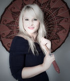 Beleza sob o parasol Imagem de Stock Royalty Free
