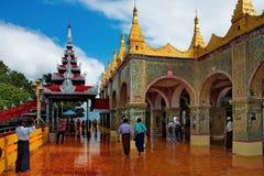 A beleza surpreendente do pagode Sutaungpyei quecumpre literalmente fotografia de stock royalty free