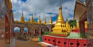 A beleza surpreendente do pagode Sutaungpyei quecumpre literalmente fotografia de stock