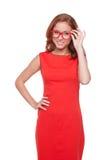 Beleza vermelha do cabelo Imagens de Stock Royalty Free