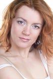 Beleza vermelha do cabelo Fotos de Stock Royalty Free