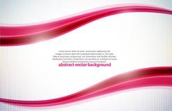Beleza waves.vector cor-de-rosa Imagem de Stock Royalty Free