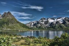 Belezas da costa norueguesa Fotografia de Stock Royalty Free