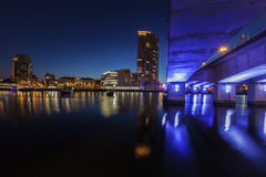 Belfast architecture along River Lagan Royalty Free Stock Photos