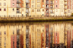 Belfast arkitektur längs floden Lagan Royaltyfri Fotografi