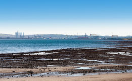 Belfast Lough and city skyline Stock Photo