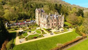 Belfast Castle Co. Antrim Northern Ireland. Belfast Castle overlooking the City from Cave Hill Co. Antrim Northern Ireland stock photos
