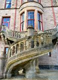 Belfast Castle - Northern Ireland. Belfast Castle - unusual and charming decorated stairs Stock Photography