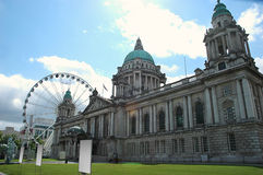 Belfast City Hall in backlight Royalty Free Stock Photos