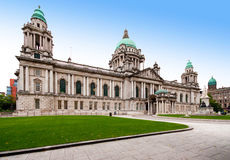 Belfast City Hall. The civic building of Belfast City Council and Donegall Square in Northern Ireland, UK stock images