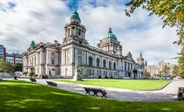 Belfast City Hall. And Donegall Square. Northern Ireland, UK royalty free stock photos