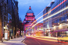 Belfast City Hall. Illuminated Belfast City Hall. Belfast, Northern Ireland, United Kingdom royalty free stock image
