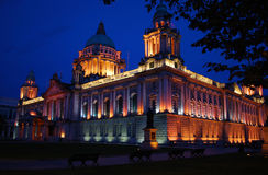 Belfast City Hall at Night Stock Images