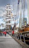 Belfast dokuje wysokiego statku festiwal Obrazy Royalty Free