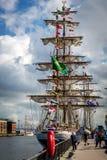 Belfast dokuje wysokiego statku festiwal Zdjęcia Royalty Free