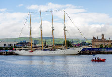 Belfast dokuje wysokiego statku festiwal Zdjęcia Stock