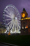 The Belfast Eye. A large big wheel which is currently touring Europe. I photographed it here in Belfast in the grounds of the city hall Royalty Free Stock Photos