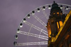 Belfast Eye Close up. A large big wheel which is currently touring Europe. I photographed it here in Belfast in the grounds of the city hall Royalty Free Stock Photo