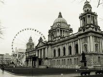 Belfast Eye, Ireland City Hall. Architecture arts historical building sad depressive building Stock Images