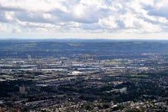 Belfast hamn och den nordliga staden - - Irland Arkivfoton