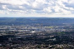 Belfast harbour and the city - Northern Ireland. View of Belfast Harbour and the city from Cave Hill Country Park Stock Photos