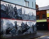 Belfast kloka väggmålningar Royaltyfri Fotografi