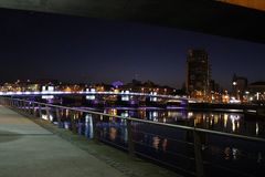 Belfast la nuit Photos stock