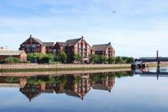 Belfast, Lagan Fluss Stockfotografie