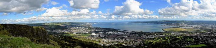 Belfast Lough - Northern Ireland. Belfast - unforgettable panoramic view on Belfast Lough Royalty Free Stock Photos