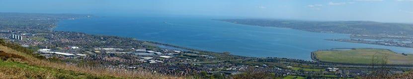 Belfast Lough. Panorama of Belfast Lough, Northern Ireland Stock Photo