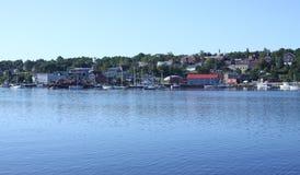 Belfast, Maine-Hafenufergegend Stockfotografie
