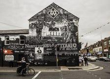 Belfast malowidło ścienne Upamiętnia Tytanicznego obraz royalty free