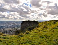 Belfast McArt`s Fort - Northern Ireland. Belfast - beautiful view on McArt`s Fort and panoramic view of Belfast, background Royalty Free Stock Image
