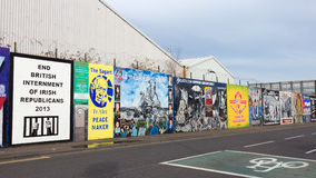 Belfast Mural Royalty Free Stock Images