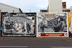 Belfast Murals Stock Photos